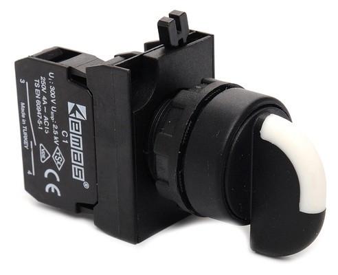 Переключатель 2-0-1 без фиксации (2НО) - пластик IP65