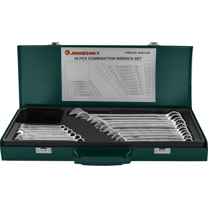 Набор комбинированных ключей JONNESWAY (W26116S) 6-24 мм