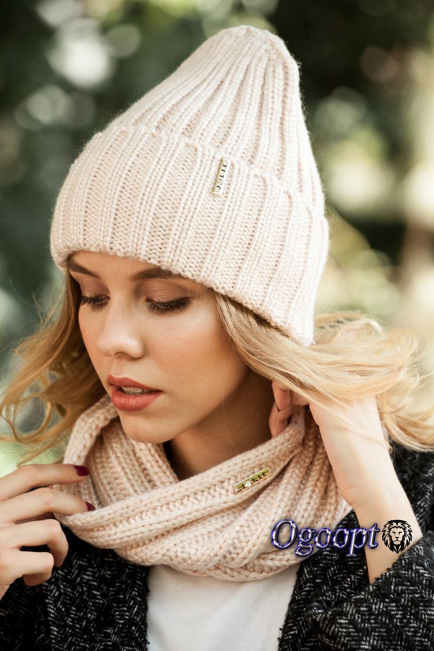 шапка вязаная женская женева в компле продажа цена в харькове