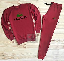 Спортивный костюм Lacoste красного цвета (люкс копия)