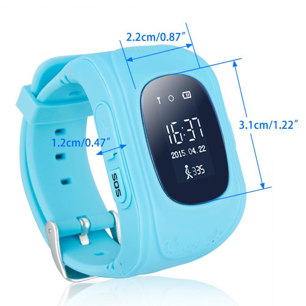 Детские часы-телефон Q50 с GPS, SOS, просушка, будильник, шагомер, GPS+LBS+Wi-Fi. Голубые