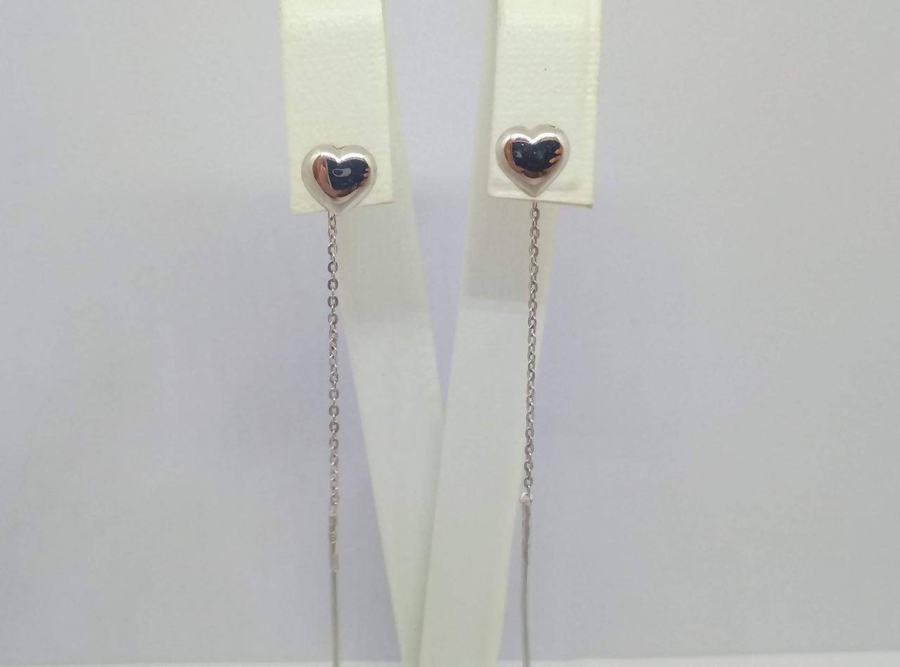 Серебряные серьги-протяжки. Артикул 580040С