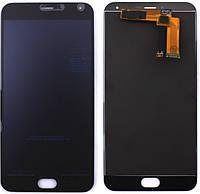 Дисплей для Meizu M2 Note (M571) + touchscreen, черный, черный шлейф