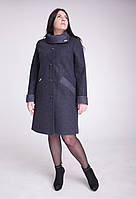 Пальто женское кашемировое Л-589 серое, фото 1
