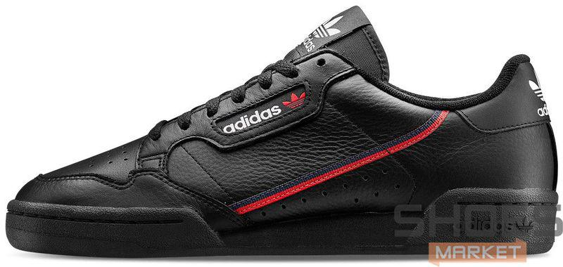 60a753fa Мужские кроссовки Adidas Continental 80 'Core Black/Scarlet' купить ...
