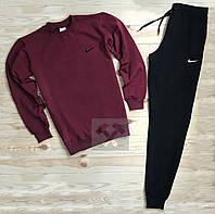 Мужской спортивный костюм Nike черного и красного цвета (люкс копия)