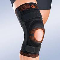 Бандаж, ортез на колено с открытой коленной чашечкой и шарниром 9107 (наколенник, фиксатор коленного сустава)