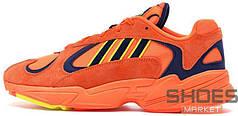 Женские кроссовки Adidas Yung-1 Hi-Res Orange/Hi-Res Orange/Shock Yellow B37613, Адидас Янг 1