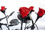 Цветы - Розы - Кожаные Розы, Вечные розы, цветы из натуральной кожи - Подарок на юбилей, фото 3