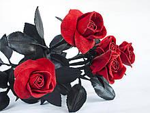 Цветы - Розы - Кожаные Розы, Вечные розы, цветы из натуральной кожи - Подарок на юбилей
