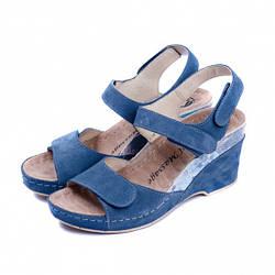 Жіночі босоніжки 503-18 сині