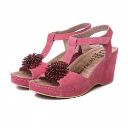 Жіночі босоніжки 587 рожеві