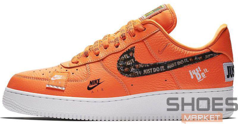 "f0c9013d Мужские Кроссовки Nike Air Force 1 07 Prm Jdi ""just Do It"" Orange ..."