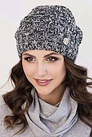 Женская меланжевая шапочка Софа серая