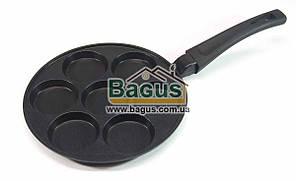 Сковорода для оладьев (d-24см) с антипригарным покрытием (без смайлов) Биол (СО-24ZP)