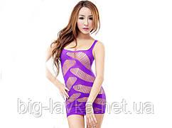 Эротическое платье-зигзаг Femme Fatale  Фиолетовый