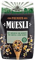 Мюсли Crownfield Premium Фрукты и семена 750 гр.