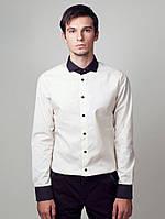 Рубашка с чёрным воротничком, фото 1