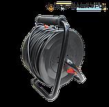 Удлинитель на катушке с выносной розеткой 50м (2х1.5 ПВС) Лемира, фото 2