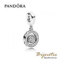 Pandora шарм-подвеска С ЛОГОТИПОМ #797430CZ серебро 925 Пандора оригинал