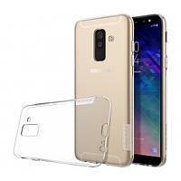 Прозрачный силиконовый чехол Nillkin Nature TPU case для Samsung Galaxy A6 plus (2018)