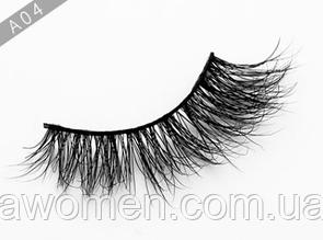 Ресницы накладные Mink 3D Hair большой объем (натуральная норка) 1 пара № А04
