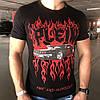 Мужская футболка Philipp Plein T-Shirt Fast and Glorious филипп плей черная с красным  реплика