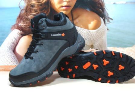 Мужские зимние ботинки Columbia (реплика) серые 46 р.