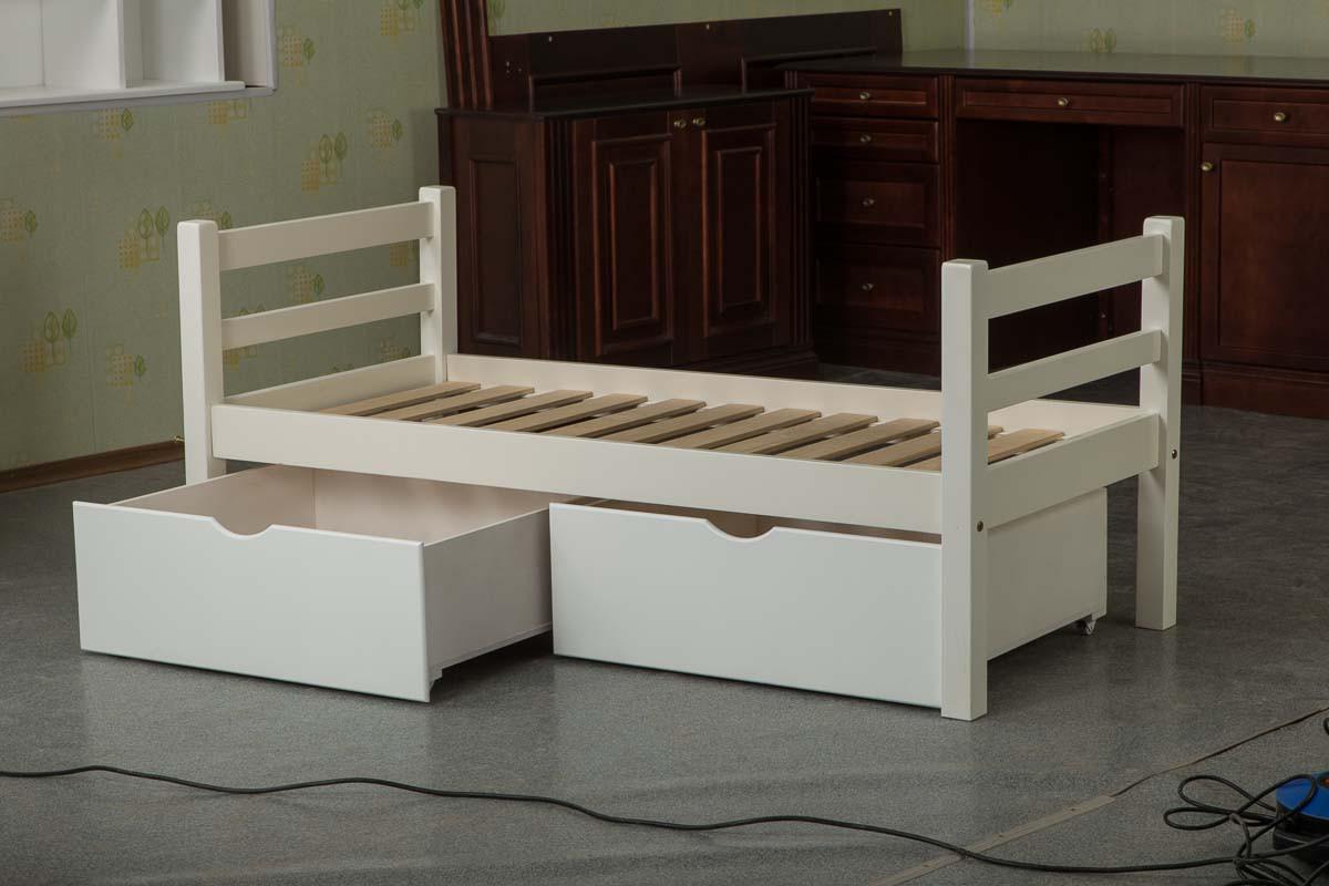 """Подростковая кровать с ящиками """"Вашингтон"""" из массива"""