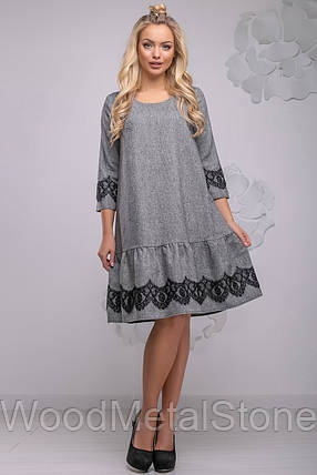 женское платье деми 44-50 ,доставка по Украине, фото 2