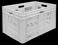 Ящик перфорированный 600х400х420 дно сплошное/перфорированное, фото 1