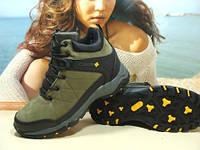 Зимние мужские ботинки хаки 43 р., фото 1