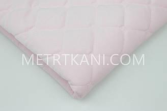 Вельвет стеганый с синтапоновой подкладкой светло-розовый цвета 250г/м №-ВП-4