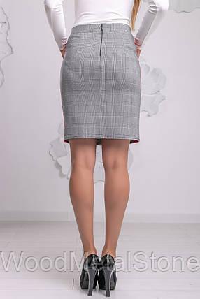 Стильная женская  юбка в клетку 42-48, доставка по Украине, фото 2