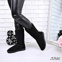 Угги женские в стиле UGG Высокие натуральная замша 5516, зимняя обувь, фото 1