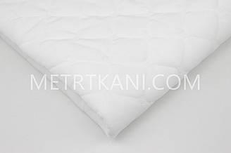 Вельвет стеганый с синтапоновой подкладкой белого цвета 250г/м №-ВП-7