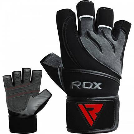 Перчатки для фитнеса RDX Pro Lift Black L, фото 2