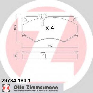 Комплект тормозных колодок, дисковый тормоз ZIMMERMANN 297841801 на MERCEDES-BENZ G-CLASS (W460)
