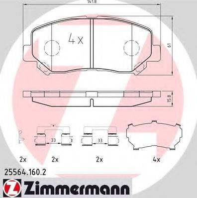 Комплект тормозных колодок, дисковый тормоз ZIMMERMANN 255641602 на MAZDA CX-5 (KE, GH)