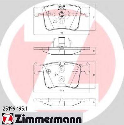 Комплект тормозных колодок, дисковый тормоз ZIMMERMANN 251991951 на BMW 1 (F20)