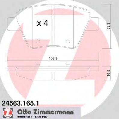 Комплект тормозных колодок, дисковый тормоз ZIMMERMANN 245631651 на SEAT LEON (1P1)