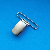Застёжка для подтяжек 40мм стальная никель