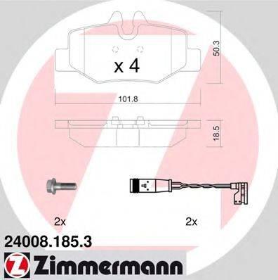 Комплект тормозных колодок, дисковый тормоз ZIMMERMANN 240081853 на MERCEDES-BENZ VITO / MIXTO фургон (W639)