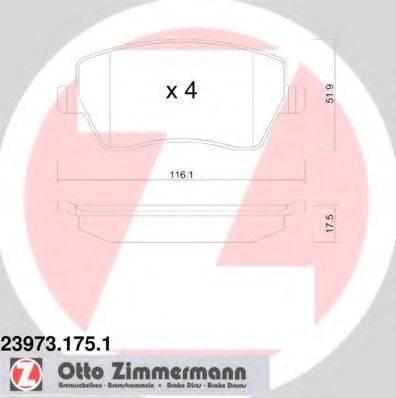 Комплект тормозных колодок, дисковый тормоз ZIMMERMANN 239731751 на DACIA LOGAN пикап (US_)