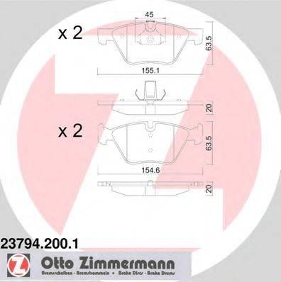 Комплект тормозных колодок, дисковый тормоз ZIMMERMANN 237942001 на BMW 3 Touring (E91)