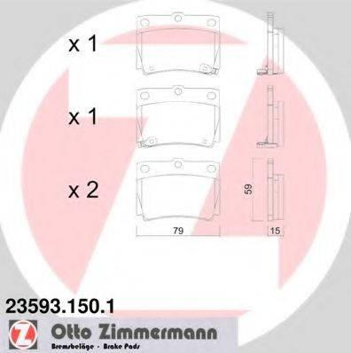 Комплект тормозных колодок, дисковый тормоз ZIMMERMANN 235931501 на MITSUBISHI G-WAGON (K90)
