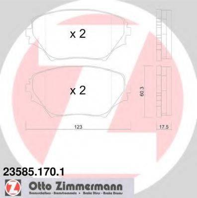 Комплект тормозных колодок, дисковый тормоз ZIMMERMANN 235851701 на TOYOTA RAV 4 Mk II (CLA2_, XA2_, ZCA2_, ACA2_)