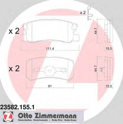 Комплект тормозных колодок, дисковый тормоз ZIMMERMANN 235821551 на MITSUBISHI OUTLANDER SPORT (GA_W_)