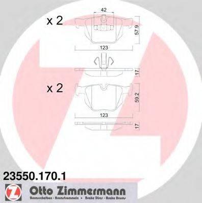 Комплект тормозных колодок, дисковый тормоз ZIMMERMANN 235501701 на BMW 3 Touring (E91)