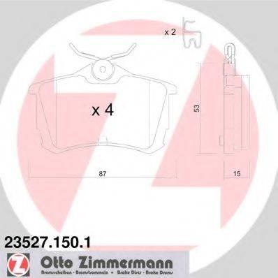 Комплект тормозных колодок, дисковый тормоз ZIMMERMANN 235271501 на HONDA ACCORD Mk VII (CG, CK)